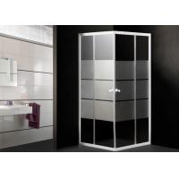 Buy cheap Toughened Glass Corner Shower Enclosure Small Bathroom Stripes Pattern 0.092CBM from Wholesalers