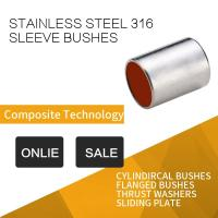 Quality 316 Stainless Steel Sleeve Bushing With Red Modified PTFE For Printing & Dyeing Machines for sale
