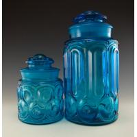 high quality square frosted glass canister set with decal ...