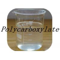 Quality Transparent Pale Yellow Polycarboxylate Concrete Admixtures / Concrete Polymer Additives for sale