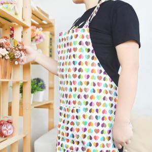 Custom Printed Cotton Kitchen Apron Canvas Fabric Uniform No Sleeve