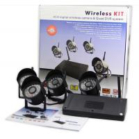 China Digital RF 4 Cameras 4 channels DVR Security System Support Micro SD And TF Card on sale