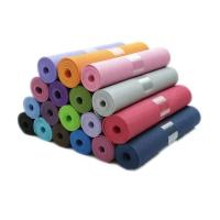 Quality Wholesale factory OEM gym equipment 6mm single double color thickened eco friendly yoga mat tpe for sale