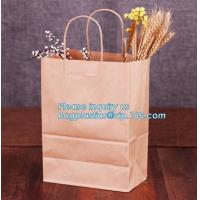China Wholesale kraft paper bag for bakery bread paper bag for bread,Carbon Branded Shopping Bread Brown Craft Paper Bag, PACK on sale