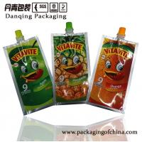 Quality Aluminum Foil Stand Up Pouches        Plastic Packaging Liquid Pouch With Spout for sale