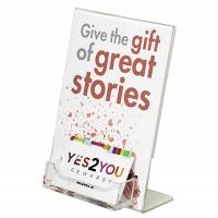 Quality 5X 7 Lucite Plexiglass Acrylic Slanted Insert Sign Holder With Business Card Pocket for sale