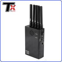 China Lightweight Portable Cell Phone Signal Jammer 5 Antenna For GPS / 2G / 3G / 4G on sale