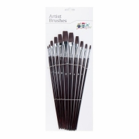 China Nickel Clad Copper Ferrule Nylon Hair Art Paint Brush Set on sale