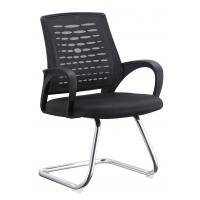 Quality Non Wheeled Portable Office Chair , Commercial Desk Chairs Black Long Using Life for sale