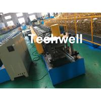 Quality 1.0-3.0mm Coil Thickness , PLC Frequency Control Guide Rail Cold Roll Forming Machine for sale
