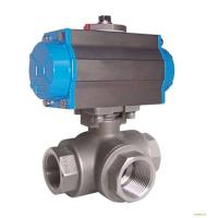 Quality Silver Actuated Pneumatic Ball Valve Fire Protection Design With Thread for sale