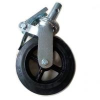 China Exterior Scaffold Tower Adjustable Wheels with Double Ball Bearing 3.1Kg on sale