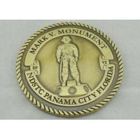 Buy Mark V Monument Personalized Coins Gold Brass Stamped , Rope Edge Coin at wholesale prices
