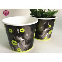 Quality Custom Blue Design Keep Calm Flower Paper Bowl For Water Plant for sale