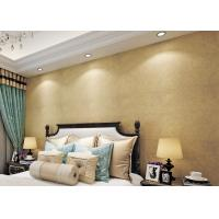 Quality Gold Multifilament Nonwoven Water Resistant Wallpaper / Strippable Wall Paper for sale