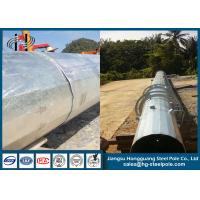 Quality Overlap Conncetion Conical Polygonal Telecomminication Monopole Steel Tubular Pole for sale