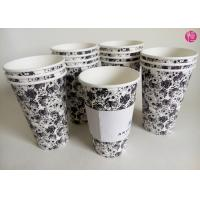Quality Single Wall 16oz Hot Tea coffee takeaway cups Custom Paper Sleeve for sale