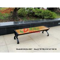 Quality Durable Wood Plastic Composite Bench 150 * 38 * 38.5cm No Contraction / Expansion for sale