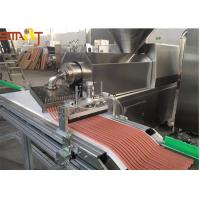 Quality Automatic Stainless Steel Single Screw Extrusion Machine For Pet Meat Strips for sale