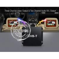 Quality HD DVB - T Car Digital TV Receiver with 2 Dibcom tuners active amplified antenna for sale