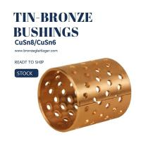 Buy cheap Tin Bronze DIN CuSn8 Flange Sleeve Bushings WB802 WB800 WB702 WB700 B92 i B90 from wholesalers