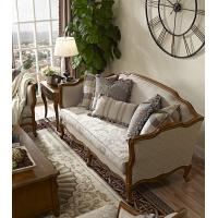 Discount Country Furniture: Country Style 2 Seats Sofa Set Wood Furniture Sofa Fabric