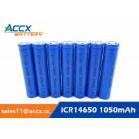 China 3.7V lithium rechargeable battery ICR14650 1100mAh 14650 li-ion battery for toy on sale