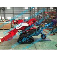 China 4LZ-0.7 mini paddy combine harvester with crawler, rice wheat 14HP on sale