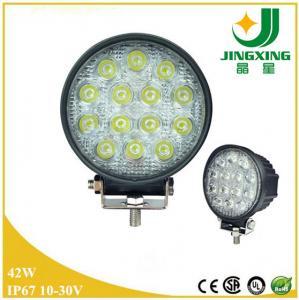 Quality Aluminum 42w led work light round 24v led work light for truck for sale