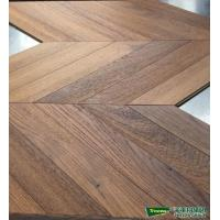 45 Fish bone teak Herringbone engineered wood flooring  Teak art parquet