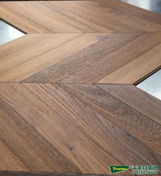 Line Art Hardwood Floors Ltd : Fish bone teak herringbone engineered wood flooring