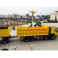 Quality 3axles 50-60T load capacity 12wheels dump trailer with 2Jost legs for sale