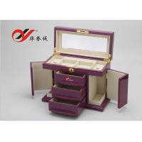 Quality Fashionable Wooden Jewellery Box 3 Drawers 4 Layers Wooden Jewelry Case for sale