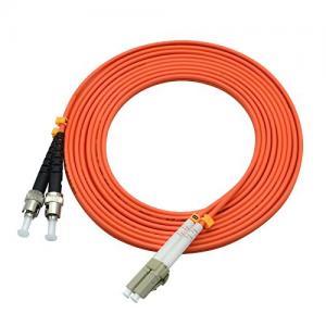 China 850 Wavelength Optical Fiber Patch Cord 3 Ft LC To ST Duplex 50 / 125um OM2 on sale