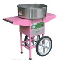 Quality Four wheels moving commercial cotton candy machine With Cart for sale