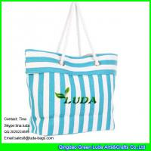 China LUDA striped women paper straw handbags on sale