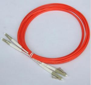 Quality Orange 3M Optical Fiber Patch Cord LC LC Duplex Fiber Jumper Cables for sale