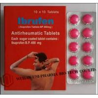 Buy cheap Western Medicine Ibuprofen Coated or Film Coated Tablets BP 400mg Antipyretic and analgesic drugs from Wholesalers