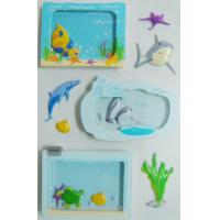 window removable Shaker Sticker die cut Sea World Fishes designs for sale
