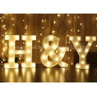 China Custom Color Decorative Metal Alphabet Letter with Light Metal Decorations Crafts on sale