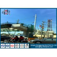 Quality Anti - Rust Electric Power Poles , Commercial Light Poles For Distribution Line for sale