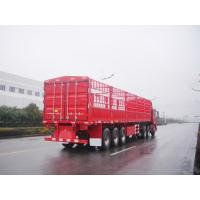 Quality 40 feet-3 Axles-35T-Single Tire-Light Rail Side Flat Bed container semi trailer for sale