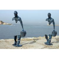 Quality Famous Casting Traveler Design Bronze Statue , Bronze Figurines Custom Size for sale