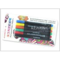 Quality Kearing Permanent DIY T Shirt Fabric Paint Markers  6 Assorted Color Markers With 2.0mm Nib #FM206 for sale