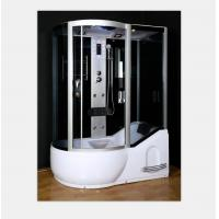 China Polished Frame Steam Shower Enclosure , Steam Shower Cubicle Single Door Sliding Style on sale