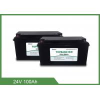 Quality Deep Cycle Bluetooth Rechargeable Battery , Lithium Phosphate Battery 24V 100Ah for sale