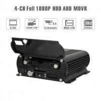 Quality Realtime 4Ch Mobile DVR GPS Position 1080 AHD Hard Disk Dvr Recorder HD Cycle for sale