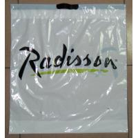 Buy cheap Customized White Plastic Drawstring Bags / Ribbon Drawstring Poly Bags from Wholesalers