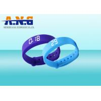 Buy USB Port HF Rfid Tags , Sport Rfid Silicone Wristbands with FM1108 chip at wholesale prices