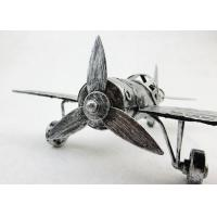 China Fighter Model Metal Decorations Art Crafts Iron Material For Office Desk Decor on sale